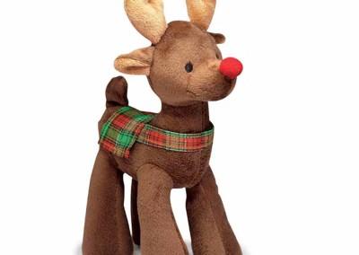 10 inch H x 5 inch L - Plush Reindeer Krinkles - dark brown - $10