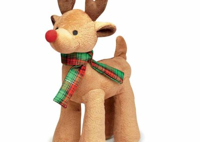 10 inch H x 5 inch L - Plush Reindeer Krinkles - light brown - $10