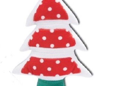 10 inch - Red with dots Christmas tree squeaker - $10
