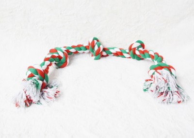 32 inch long - XL Rope Tug - color Red, White, & Green - $15