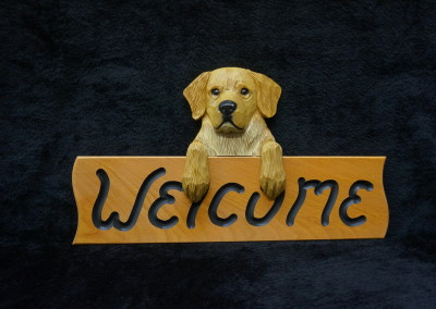 $56.00 - Adult Golden Welcome Sign