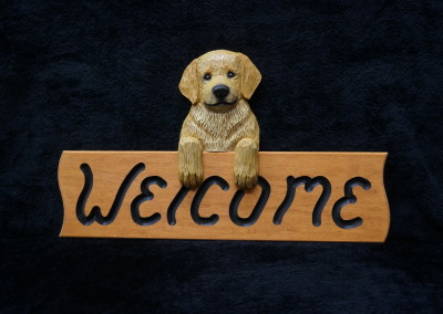 $56.00 - Golden Puppy Welcome Sign