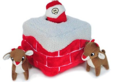 Hide A Toy, Interactive Santa & Reindeer Chimney Squeakers - $15