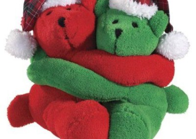 Holiday Bear Hugster Squeakers - 2 toys for the price of 1 - $10
