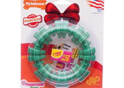Nylabone Chew Wreath - Peppermint flavor - $15