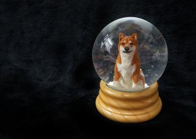$99.00 - Red Shiba Snow Globe