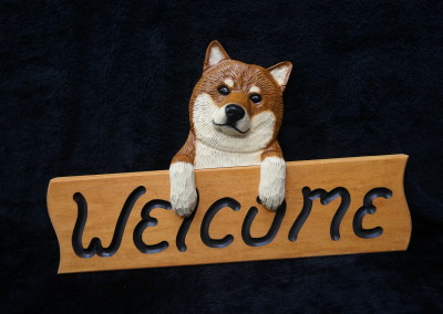 $56.00 - Red Shiba Welcome Sign