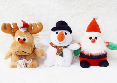 Reindeer, Snow Man, Or Santa with hat & squeaker - $10 each