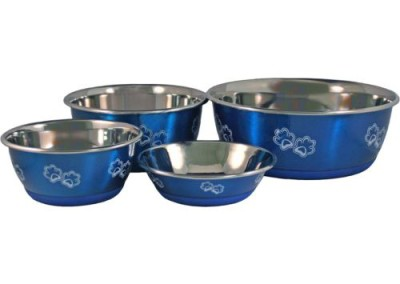 Stainless Steel Bowls - Blue