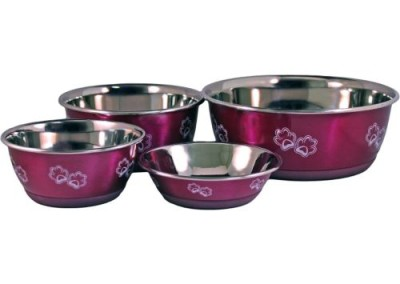 Stainless Steel Bowls - Pink