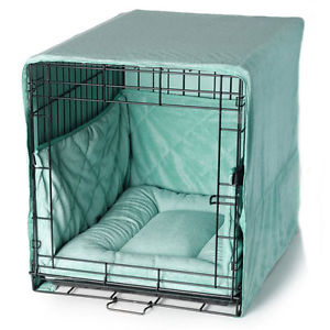3 Piece Velour Crate Cover Bed & Bumpers